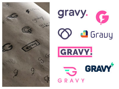 Gravy Logo Exploration geometry branding design gravy idenity branding logo