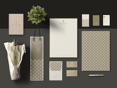 The Bellevue Residences visual identity gold hotel mark type typography illustration identity logo packaging design branding