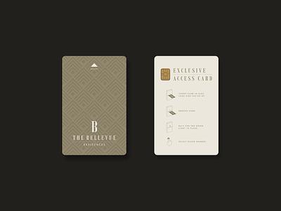 The Bellevue Residences branding design packaging logo identity illustration typography type mark hotel gold visual identity