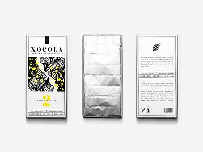 XOCOLA Organic Chocolate color branding design packaging logo identity illustration type cacao chocolate yellow visual identity