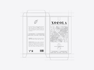XOCOLA Organic Chocolate branding design packaging logo identity illustration color type cacao chocolate yellow visual identity