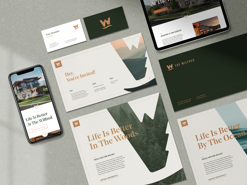 The Wilfred Branding ui brand identity badge brand mark design typography logo branding