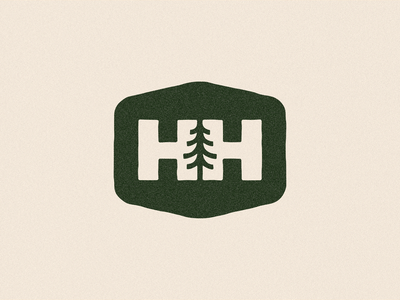 HH + Tree typography logo branding minimal park logo badge tree logo h logo hh logo monogram
