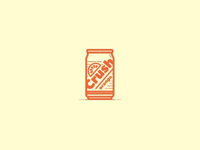 Pop Can illustration pop  can soda pop orange  crush