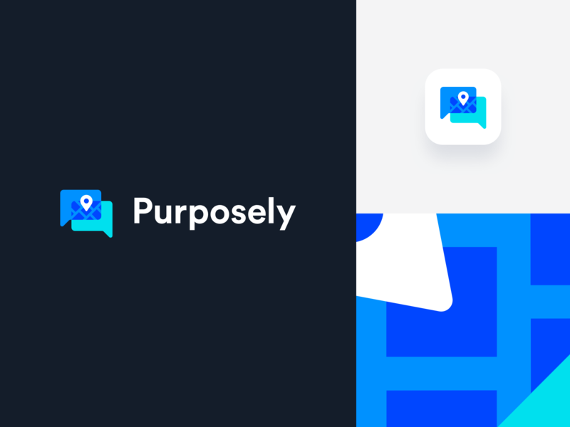 Purposely Branding brand identity symbol mark branding app design clean icon logo