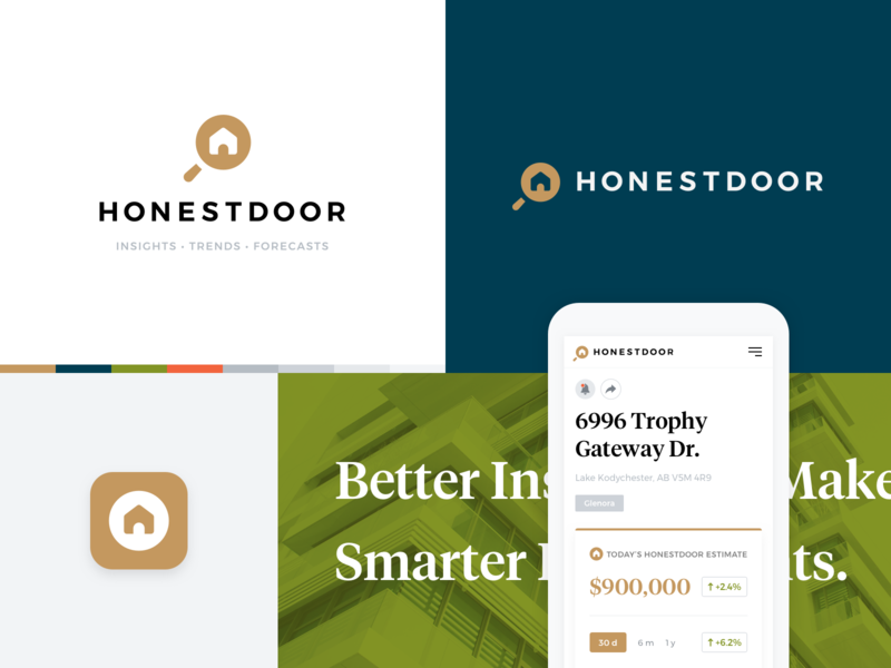 HonestDoor Branding design icon branding logo