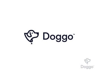 Loggo clean minimal dog logo dog icon logo