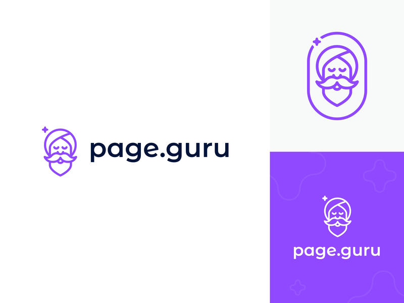 page.guru logo web mark clean typography design symbol icon logo design branding logo