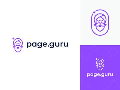 page.guru logo web mark clean typography design symbol icon logo design branding logo