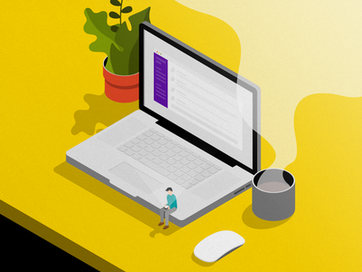 Slacking vector design illustration