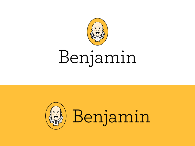 Benjamin symbol brand design badge icon app branding illustration logo