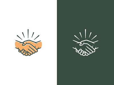 Handshake #1 vector symbol icon design friends coffee illustration mark symbol mark branding brand hands handshake logo