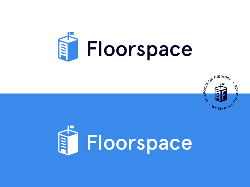 Floorspace Logo real estate app building logo building real estate realtor vector mark symbol design icon branding logo