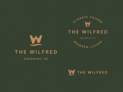The Wilfred design symbol typography negative space logo negative space branding logo