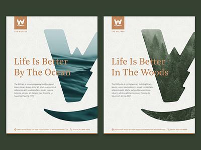 Brand Posters logo design logo mountains ocean forest outdoors poster design poster art poster branding