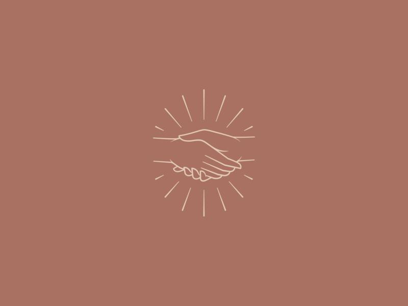Handshake #4 badge brand mark symbol icon hand illustration branding handshake logo