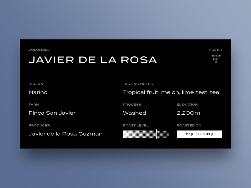 Coffee Label package brand identity roast branding typography label coffee