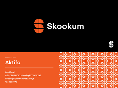 Skookum Branding brand mark symbol vector typography retro minimal design icon branding logo