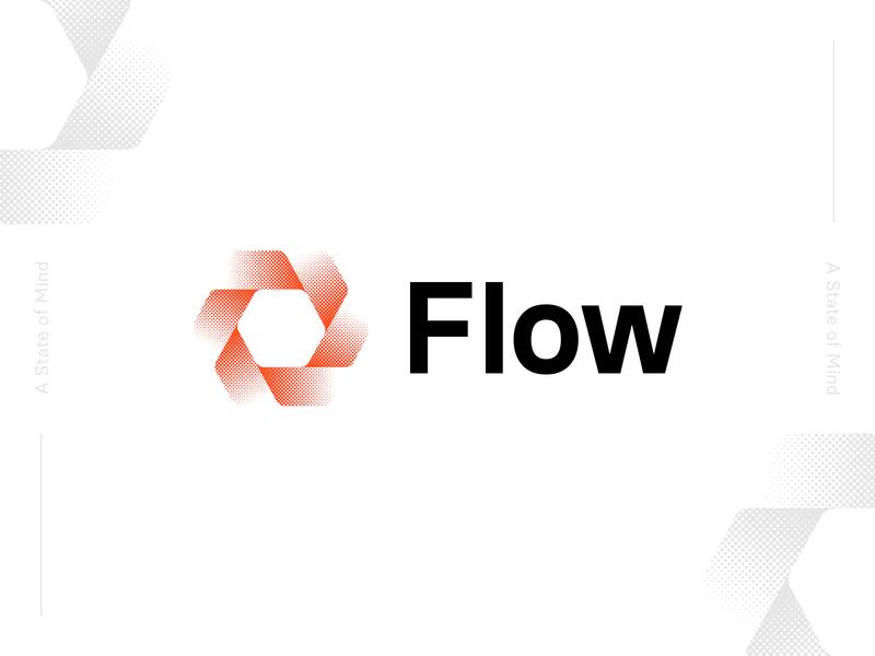 Go With The Flow brandmark movement flow halftone design branding logo