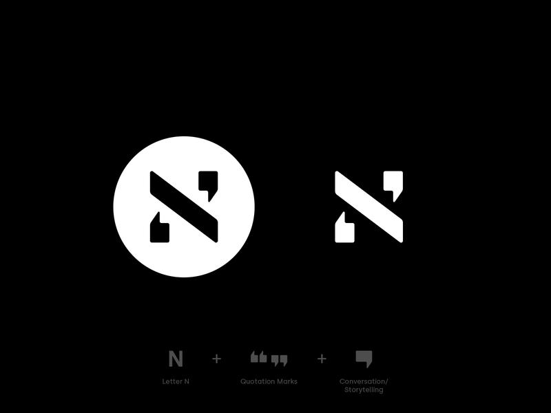 N Mark mark symbol icon branding modern clean simple minimal lettermark content marketing content strategy marketing copywriting logo design logotype logo marks logo