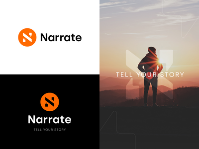 Narrate Branding identity brand mark design minimal typography symbol icon branding logo