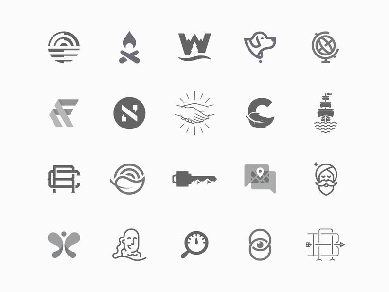 Logo Collection brand identity identity vector badge illustration minimal mark logo design brand design symbol icon branding logo