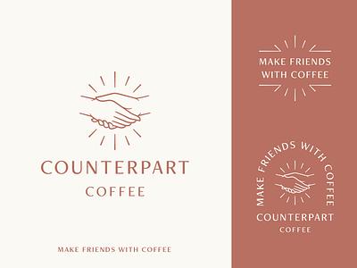 Coffee Lockups lockups coffee branding coffee handshake logo handshake identity brand mark symbol design typography illustration branding logo
