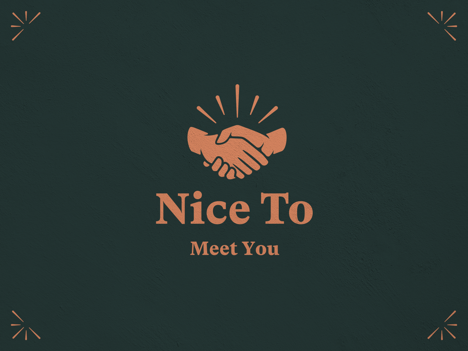 Nice To Meet You By Nick Johnston On Dribbble