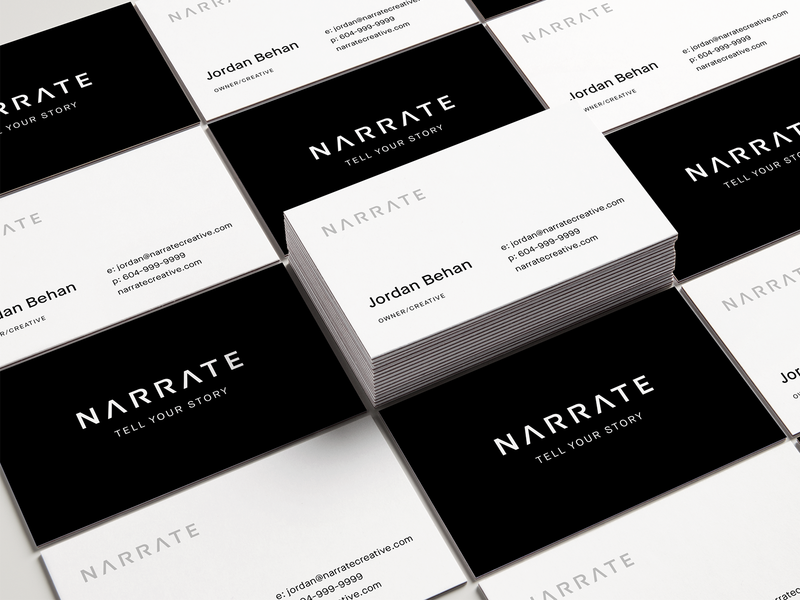 Narrate Concept typography aesthetic clean minimal logo logotype workmark branding