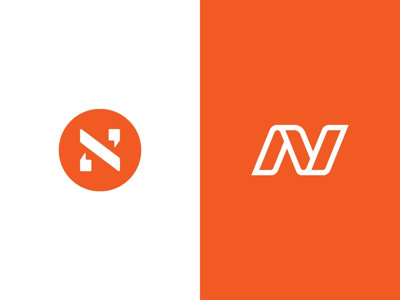 N's vector brand mark symbol design icon typography logotype letter branding logo