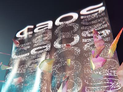 🕳 CAOS 🕳 photoshop lettering graphic design poster cinema 4d cinema4d 3d design
