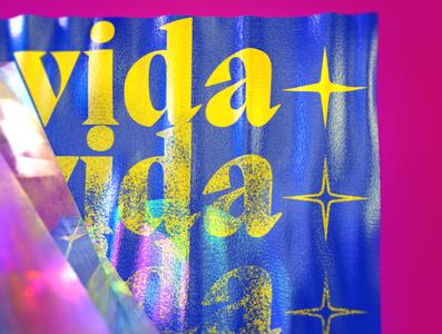✨ VIDA ✨ branding lettering graphic poster render cinema 4d cinema4d 3d illustration