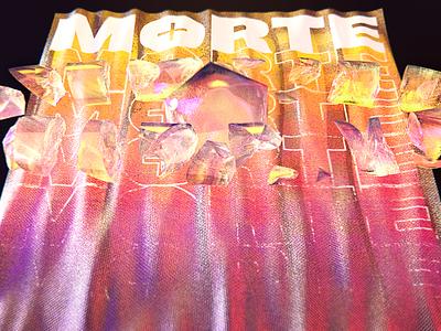 ⚰️ MORTE ⚰️ graphic design lettering graphic cinema 4d cinema4d 3d poster