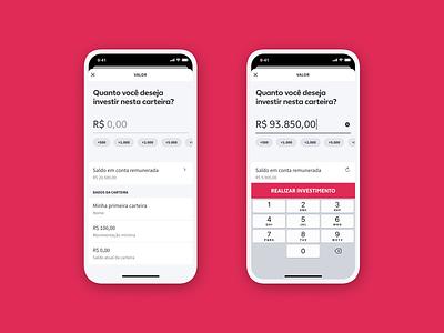 Warren - Investimento em carteiras pink motion graphics motion ux design mobile app ui product interaction warren investments money finance