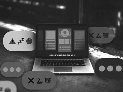 Design Review | Medium post cover dark notebook presentation slide illustration design ui product