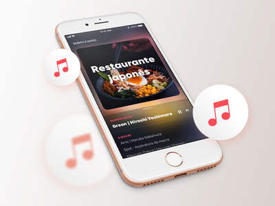 Ambient Music Player App song list player music sound iphone dark ios ux design ui product mobile interaction app