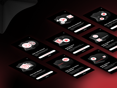 Superplayer App - Feature block screens icon vector branding song illustration player music dark ios ux design ui product mobile interaction app