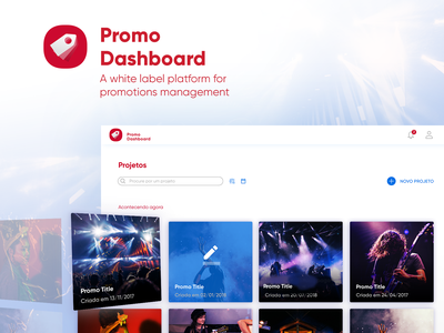 Promo Dashboard clean identity minimal type typography website icon flat branding vector logo illustration music ux web ui design mobile product interaction