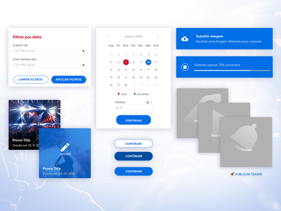 Promo Dashboard components clean identity minimal lettering interaction type website flat web typography branding vector logo player music ux design ui app product