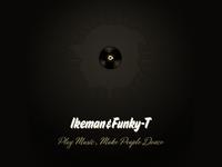 Ikeman and Funky-T DJ Logo brand