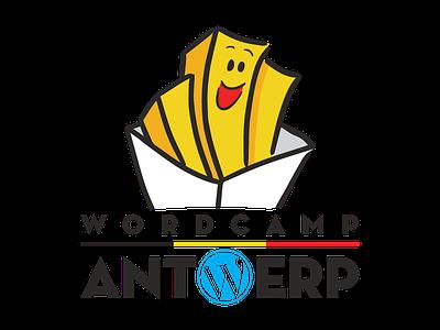 Wordcamp Antwerp Logo character fries logo belgium antwerp wordcamp wordpress