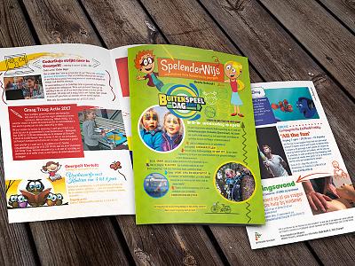 Kids' Brochure / Magazine Mockup Spelenderwijs playful color activities kids brochure flyer