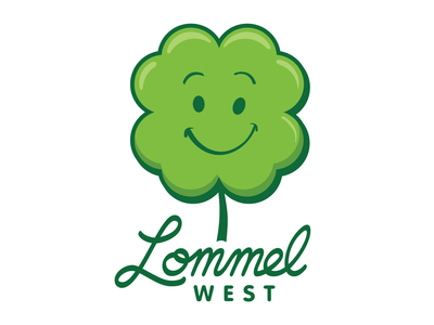 Lommel West Logo 12 Dribbble 01 teaching learning icon face welcoming fun kids logo brand school clover green