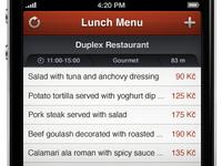 Lunch Menu - iPhone App