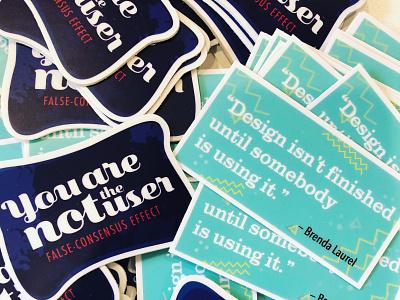 Design Stickers design quote ux sticker