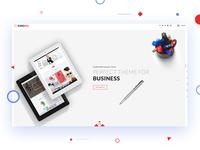 Header with Hero Image - Minimal Design
