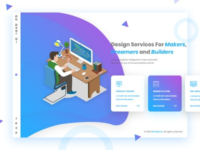 Header with Hero Image - Creative Agency psd template muliti-page design ui design team widget price table landing page banner design creative design garden website website design