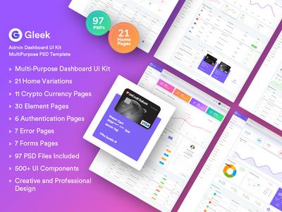 Admin Dashboard UI Kit - Gleek