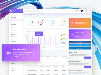 Job Portal Admin Dashboard - Gleek