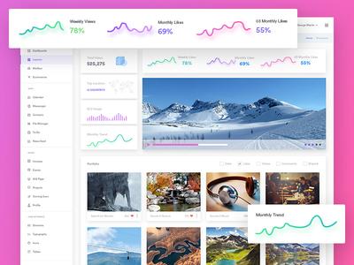 Photos Management Admin Dashboard - Gleek